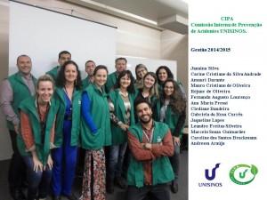 No dia 01 de outubro de 2014,  foi realizada a sessão de instalação e posse da Comissão Interna de Prevenção de Acidentes – CIPA UNISINOS para o período de 01/10/2014 a 30/09/2015.