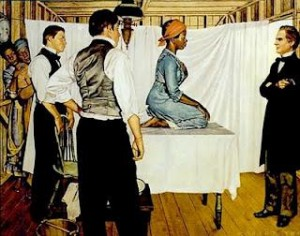 Pouco se sabe sobre a exploração das escravas negras, no século XIX, em pesquisas ginecológicas. Fonte da imagem: http://elegbaraguine.files.wordpress.com/2013/08/the-gynecological-work-of-j-marion-sims.jpg